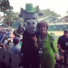Rocky and Judy Genshaft at the Valspar PGA Tour. #USF