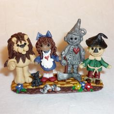 Wizard of Oz Minature Scene Figurine Polymer Clay Collectable