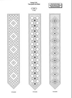 PATRON picado ENCAJES marcapáginas pulseras. 3 PAGINAS Bobbin Lace Patterns, Knitting Patterns, Crochet Patterns, Loom Patterns, Filet Crochet, Crochet Motif, Crochet Edgings, Crochet Shawl, Evlis Needle