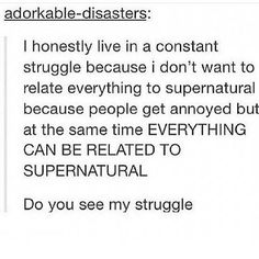 There are 12 seasons with 22 episodes a season and half hour episodes what fid you expect? Supernatural Destiel, Superwholock, Best Shows Ever, Fangirl, Told You So, Fandoms, Writing, Feelings, Annoyed