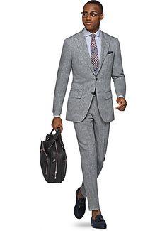 Suit Grey Plain Washington P4847 | Suitsupply Online Store