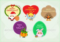 Mini Festive Greetings ...  bow, bunny, candy, card, celebration, christmas, cupid, day, decoration, easter, egg, festival, gift, greeting, halloween, happy, heart, holiday, lollipop, love, merry, pumpkin, santa, season, thanksgiving, turkey, valentine, wish, wreath, xmas