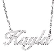 This Script Nameplate Necklace is available in white, rose and yellow gold. Chain length comes in either or Name may have up to 8 characters. Please let us know the name, color, and chain length when ordering. Please see for gold, and for sterling silver. Gold Name Necklace, Nameplate Necklace, Personalized Necklace, Locket Necklace, Heart Pendant Necklace, Engraved Necklace, Gold Pendant Necklace, Bridesmaid Jewelry, Or Rose