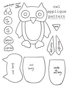 owl applique pattern