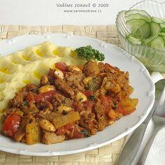 sojove-nudlicky-s-rajcaty Tofu, Vegetarian, Meat, Chicken, Cubs