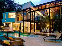 Vacation retreat in a tropical rainforest