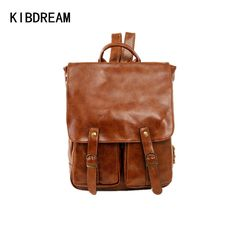 59.00$  Buy here - http://ali2jb.worldwells.pw/go.php?t=32760318097 - KIBDREAM Fashion Genuine Leather Men Backpacks Large Capacity Travel Bag High Quality School Bags for Man Casual Laptop Backpack
