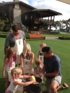 Tori, Dean & family at pottery class