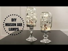 A Mason Jar With Glued On Candle Sticks, Becomes Something BEAUTIFUL!