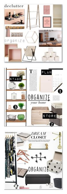 """""""Winners for Declutter!"""" by polyvore ❤ liked on Polyvore featuring interior, interiors, interior design, home, home decor, interior decorating, Muuto, Umbra, ferm LIVING and Safavieh"""