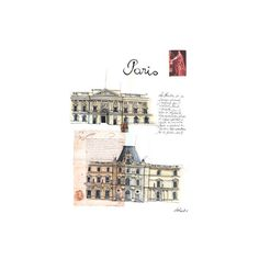 Illustrations ❤ liked on Polyvore featuring backgrounds, drawings, city, paris, sketches and fillers