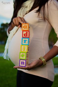 Different variation on the name blocks, I like. Maternity Poses, Maternity Portraits, Maternity Pictures, Newborn Pictures, Maternity Photographer, Baby Bump Photos, Bump Pictures, Pregnancy Photos, Shooting Photo