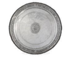 Platter; 4th c Romano-British; Found: Mildenhall, Suffolk, England; silver, niello