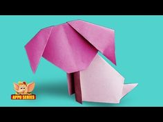 Origami - Make a Dog The Easy Way - YouTube
