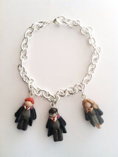 Harry Potter inspired Charm Bracelet Handmade from Polymer Clay