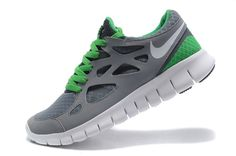 online store d944a 91257 Cheap Nike Free Run 2 Mens Mens Shadow Grey Canyon Green White 443815 003