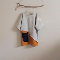 custom linen tunic by annyschoo. eco. clothing. solar studio.