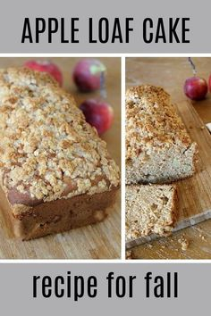 This easy apple loaf cake recipe is perfect for fall. Chili Recipes, Apple Recipes, Pumpkin Recipes, Fall Recipes, Soup Recipes, Apple Loaf Cake, Autumn Inspiration, Spice Things Up, Baked Goods