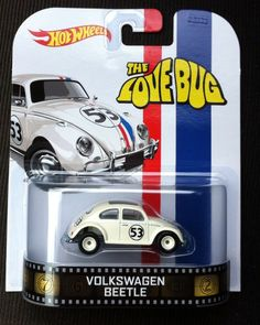 2014 HOT WHEELS RETRO ENTERTAINMENT HERBIE THE LOVE BUG VW BEETLE - MIP