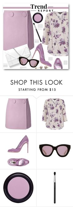 """A-Line Skirt & Floral Wrap Blouse"" by brendariley-1 ❤ liked on Polyvore featuring STELLA McCARTNEY, Billie & Blossom, Lerre, Karen Walker, Real Purity, MAC Cosmetics, skirt, StellaMcCartney, aline and wrapblouse"