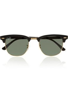 Ray-Ban | Clubmaster half-frame acetate sunglasses  | NET-A-PORTER.COM