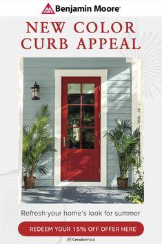Home Entrance Decor, House Entrance, Exterior House Colors, Exterior Paint, Hill Country Homes, San Leandro, Blue Building, Pleasant Hill, Paint Colors For Home