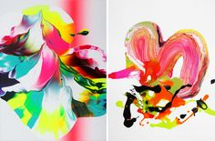 Fluorescent Paintings by Yago Hortal