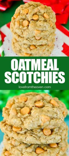 Call them Oatmeal Scotchies or call them butterscotch cookies, but whatever you call them, make a batch! These easy cookies are irresistable! Delicious Cookie Recipes, Healthy Dessert Recipes, Easy Desserts, Yummy Food, Egg Recipes For Breakfast, Low Carb Dinner Recipes, Oven Recipes, Homemade Cookies, Yummy Cookies
