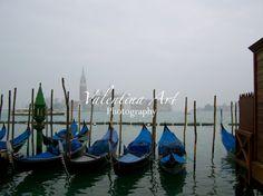 The Gondolas Venice Italy Art Color by ValentinaArtSpace on Etsy