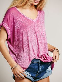 Free People The Keep Me Tee at Free People Clothing Boutique