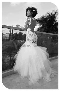 Probs not for me, but I love it. www.becketttravel.com mermaid wedding dress mermaid wedding dresses