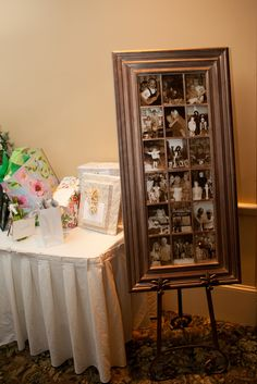 Photo Memory board near the guest table is a personal touch for your wedding reception.