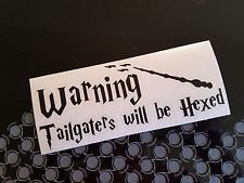 Harry Potter Tailgaters Will Be Hexed Decal Sticker Window Car