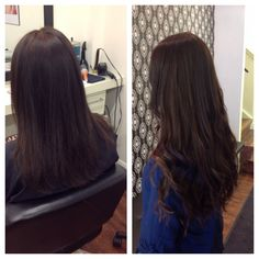 Before and after a full head of babe i tip hair extensions niki beautiful 20 great lengths extensions pmusecretfo Image collections
