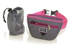 Good Dog Treat Pouch - Grey & Pink