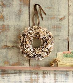 -oyster-shell-wreath At Seasideinspired.com Beach Ocean Home Decor