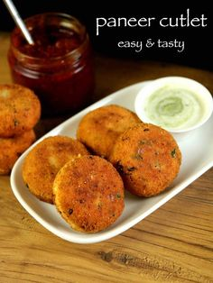 paneer cutlet recipe, paneer tikki recipe, paneer starter recipe with step by step photo/video. easy & tasty cutlet recipe with moist paneer, boiled veggies Vegetarian Recipes, Cooking Recipes, Healthy Recipes, Vegetarian Starters, Sausage Recipes, Thai Recipes, Cooking Ideas, Paneer Starters, Comida India