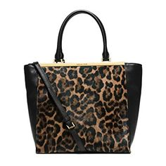 Michael Kors Lana Leopard-print Hair Calf and Leather Tote Leopard Review