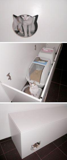 DIY Cat Litterbox #cathouselitter