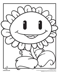 Plants Vs. Zombies Coloring Pages Zombie Fighting Sunflower Coloring Page – Cartoon Jr.