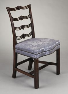 1785 American (Pennsylvania) Ladderback Side Chair (one of two) at the Los Angeles County Museum of Art, Los Angeles