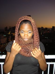 Handmade Medium Size Brown Scarf / cowl by Belisse on Etsy, $30.00