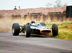 1966 lotus-brm jackie stewart oulton park