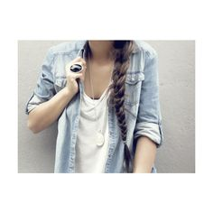 The Fire Inside Me: Denim shirts ❤ liked on Polyvore featuring pictures, hair, people, backgrounds and photos