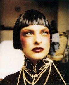 linda in dior, c1995, the bangs are kinda short but still.....hot!