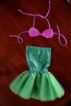 FULL Little Mermaid Ariel Halloween Costume TOP by TwoBobbinsLater