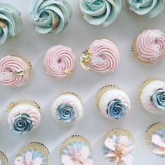 nectar and stone cupcakes! Pretty Cupcakes, Beautiful Cupcakes, Yummy Cupcakes, Buttercream Cupcakes, Baking Cupcakes, Cupcake Cake Designs, Cupcake Cakes, Disney Cupcakes, Cakepops