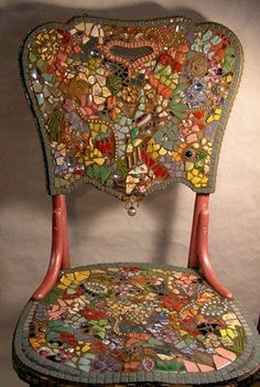 Awesome chair. This looks like Melissa Miller's work. She has a signature style.  http://melissasmotif.com/index.html#.UNxfZHdGl1M