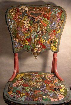 mosaiced chair
