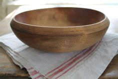 Rustic Wooden Bowl by FarmhouseSupply on Etsy